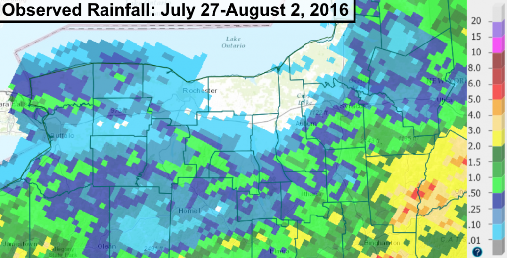 Finger Lakes rain fall amounts