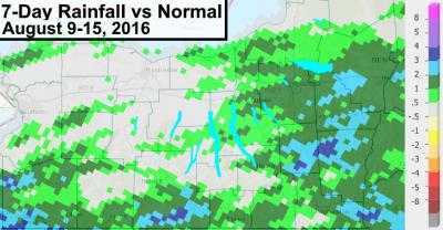 finger lakes rain amount normal deficit