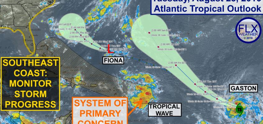 atlantic tropics hurricane fiona gaston hermine
