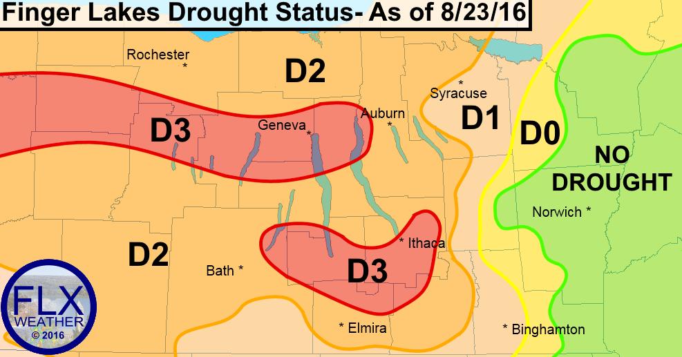 finger lakes drought status map