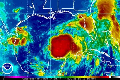 tropical depression nine hremine ian gulf of mexico