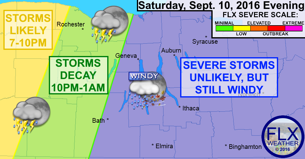 finger lakes weather western new york severe thunderstorm potential september 10 2016
