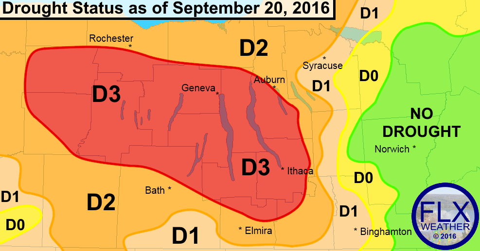 finger lakes extreme drought 2016