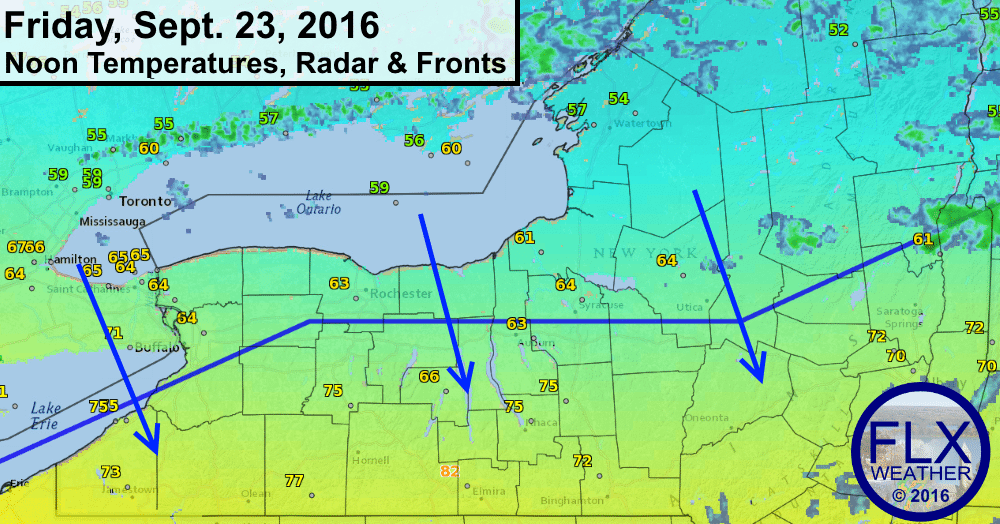 finger lakes weather forecast update cold front