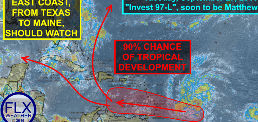 tropical weather invest 97-l matthew tropical storm hurricane