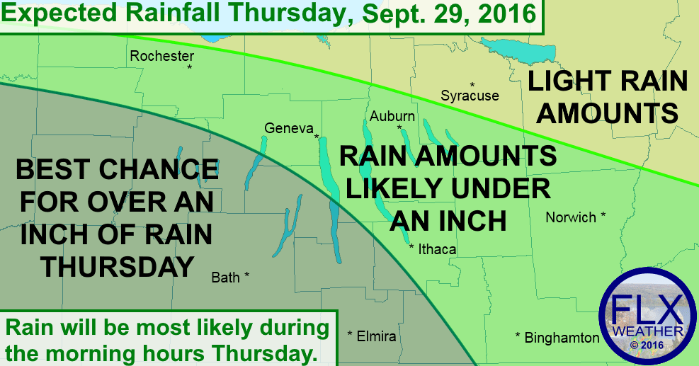 Rain will be likely on Thursday morning, with some areas receiving over an inch of new rainfall.