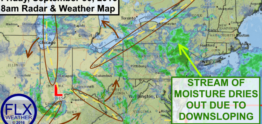Showers persist across Finger Lakes through the weekend