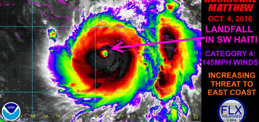 Hurricane Matthew slams Haiti, targets Southeast US