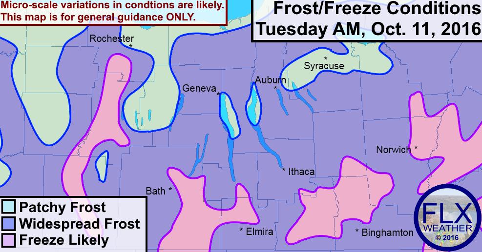 finger lakes frost freeze forecast october 10 2016