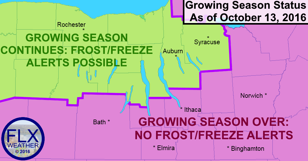Frost and Freeze alerts will no longer be issued for areas where the growing season has ended, even as temperatures drop well into the 30s the next two mornings.