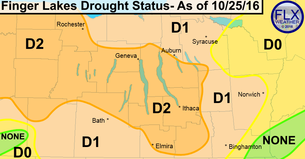 finger lakes drought map