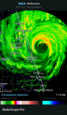 Hurricane Matthew radar florida cape canaveral