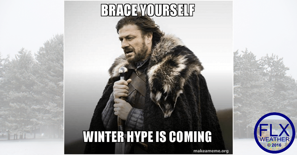 With a pattern shift looming, snow hype will start flying.