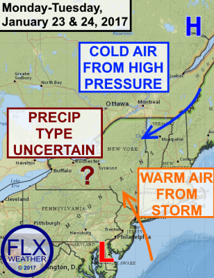 finger lakes weather forecast winter storm january 23 janaury 24 2017