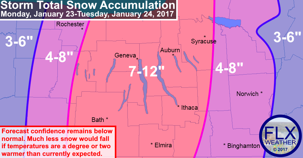 Finger Lakes Winter Storm Details: Snow Map, Timeline ... on
