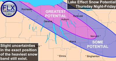 finger lakes lake effect snow map february 9 2017