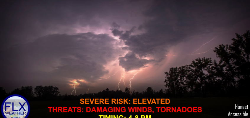 Live Severe Thunderstorm Updates- Monday Late Afternoon and Evening