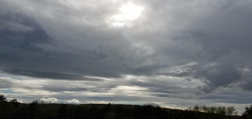 Skies turn cloudier as storm system approaches