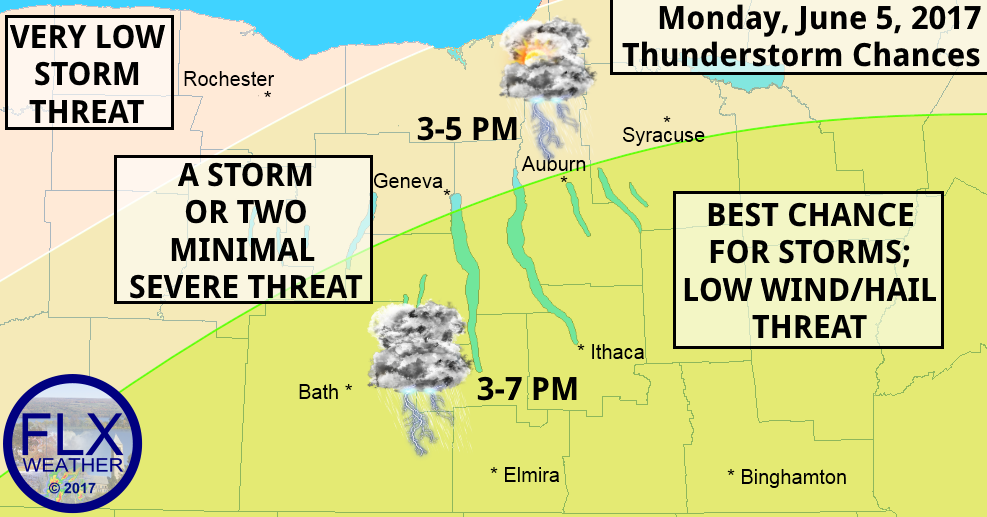 finger lakes weather forecast thunderstorms monday june 5
