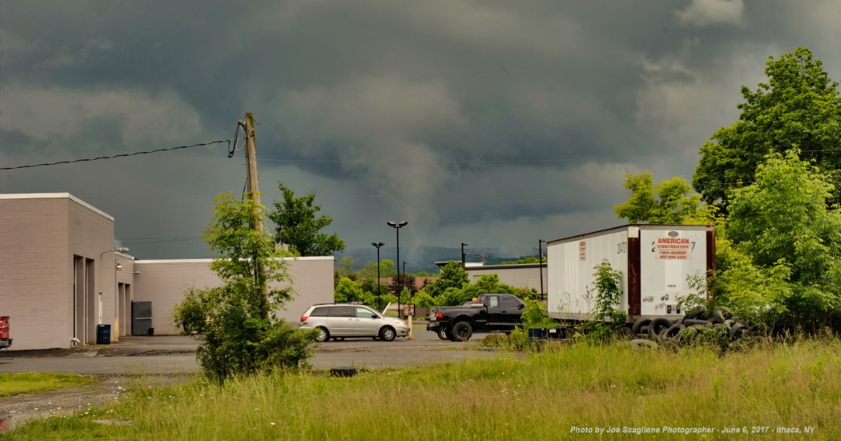 Was that a funnel cloud in Ithaca Tuesday afternoon?