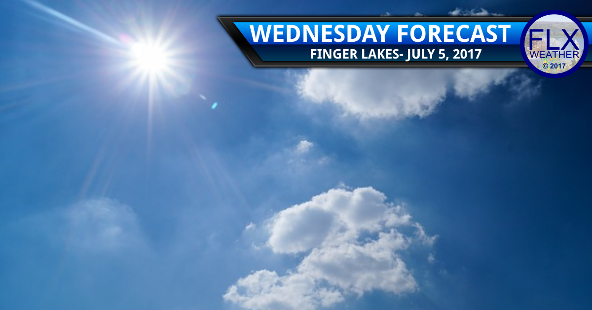 Another sunny day before rain chances increase across the Finger Lakes