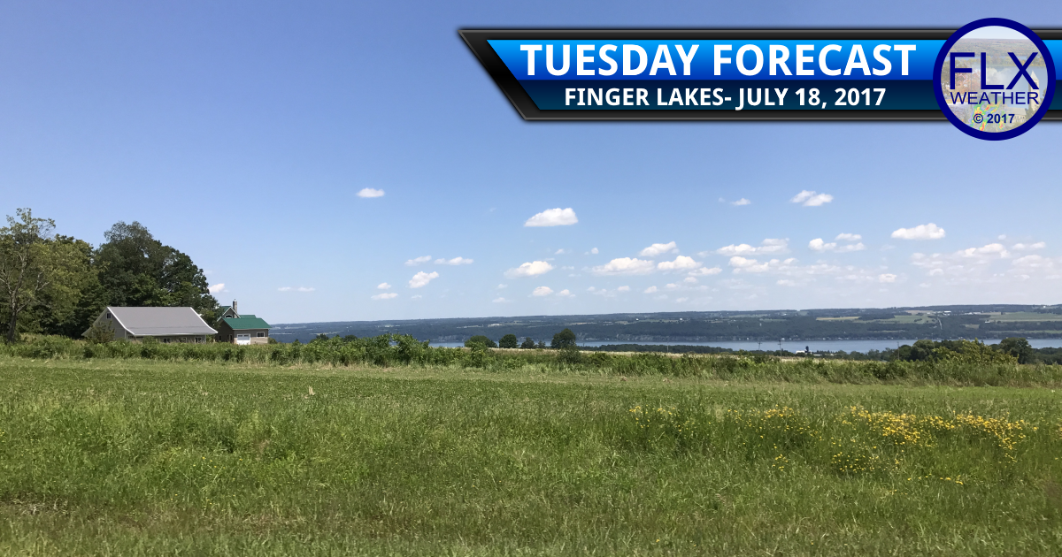 Nice summer day Tuesday after areas of morning fog