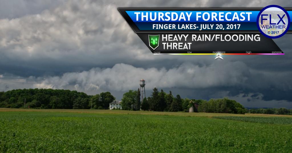 finger lakes weather forecast thunderstorms flash flooding