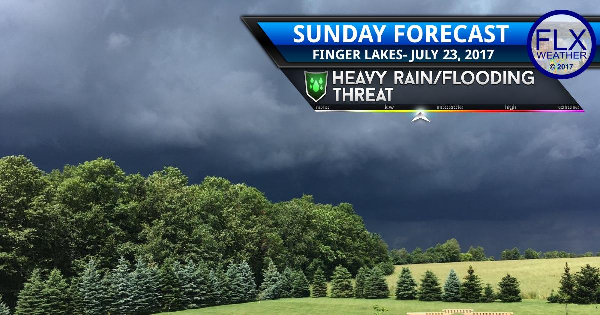 finger lakes weather forecast flash flooding heavy rain thunderstorms sunday july 23 2017