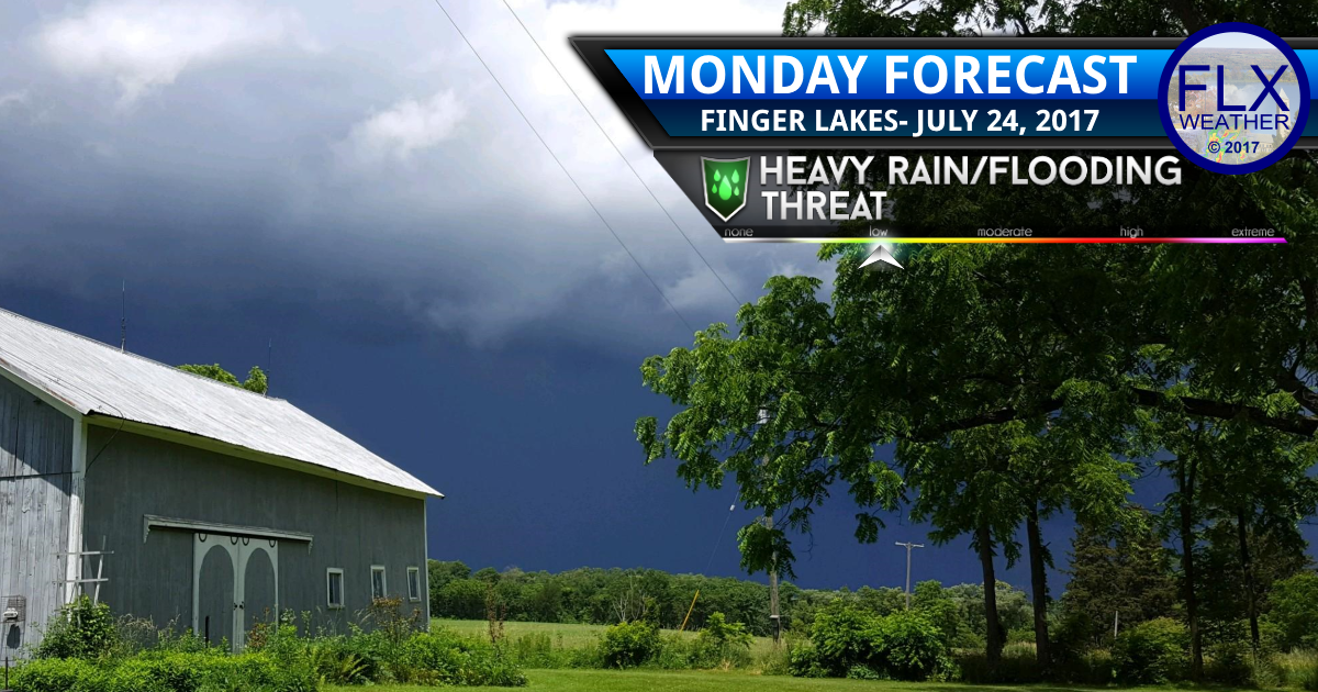 Yet more rain and thunder for the Finger Lakes Monday