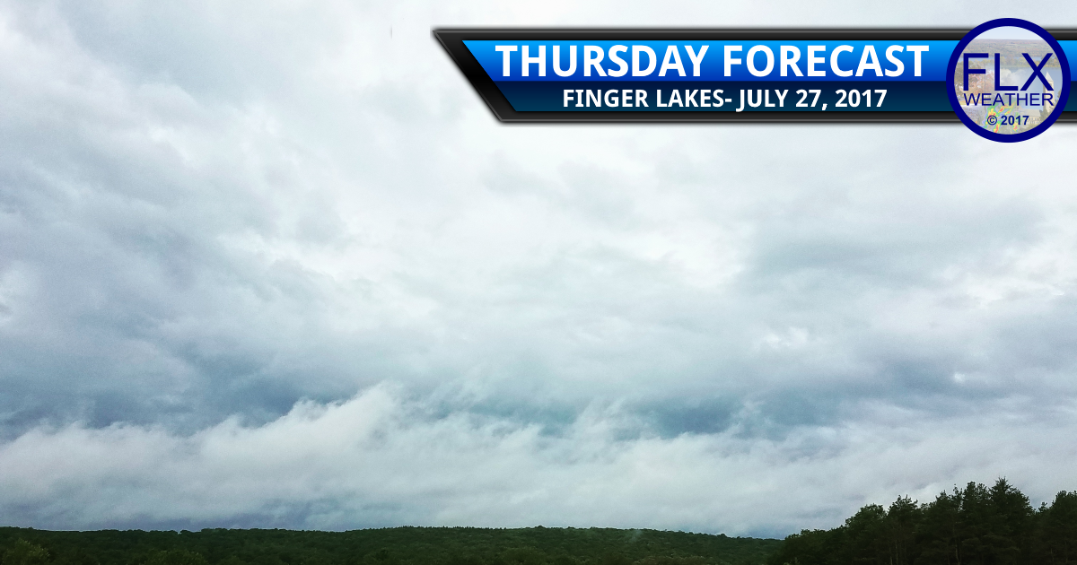 finger lakes weather forecast rain thursday sunny weekend