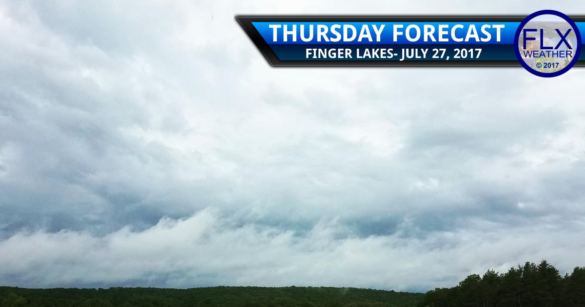 finger lakes weather forecast rain thursday sunny weekend