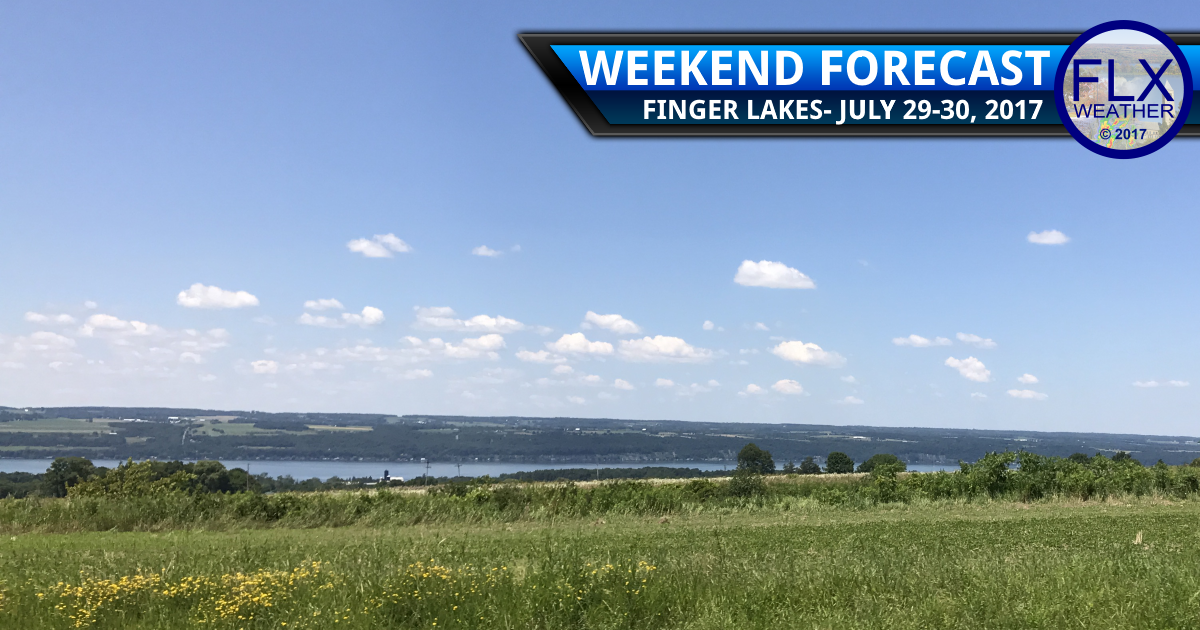 Nearly perfect weather for the Finger Lakes this weekend
