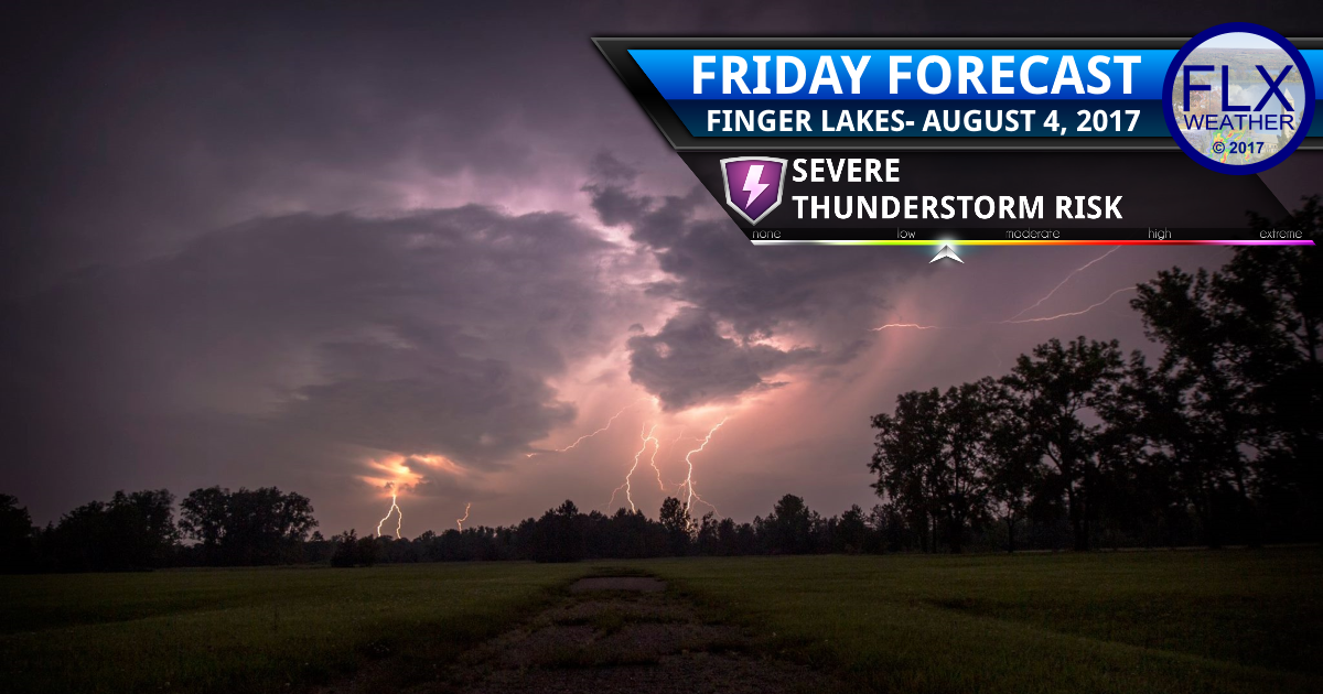 Cold front brings thunderstorms, some strong, to the Finger Lakes Friday