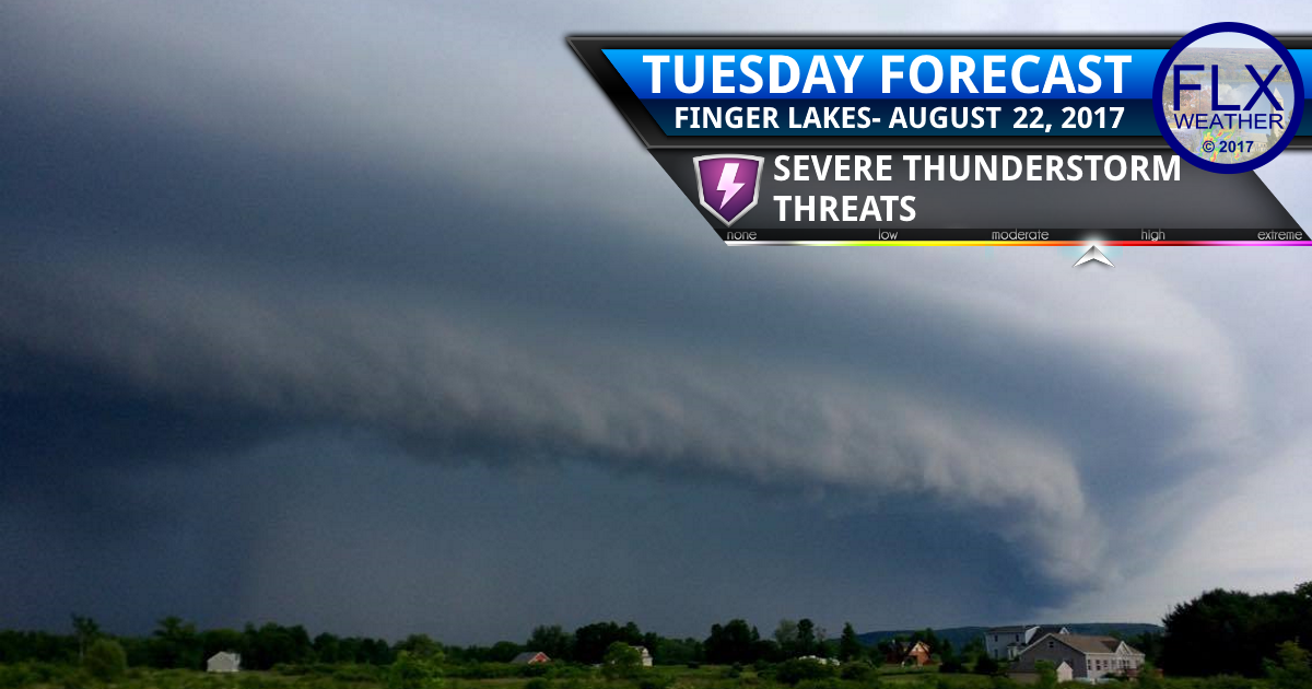 Significant severe weather event Tuesday afternoon in the Finger Lakes
