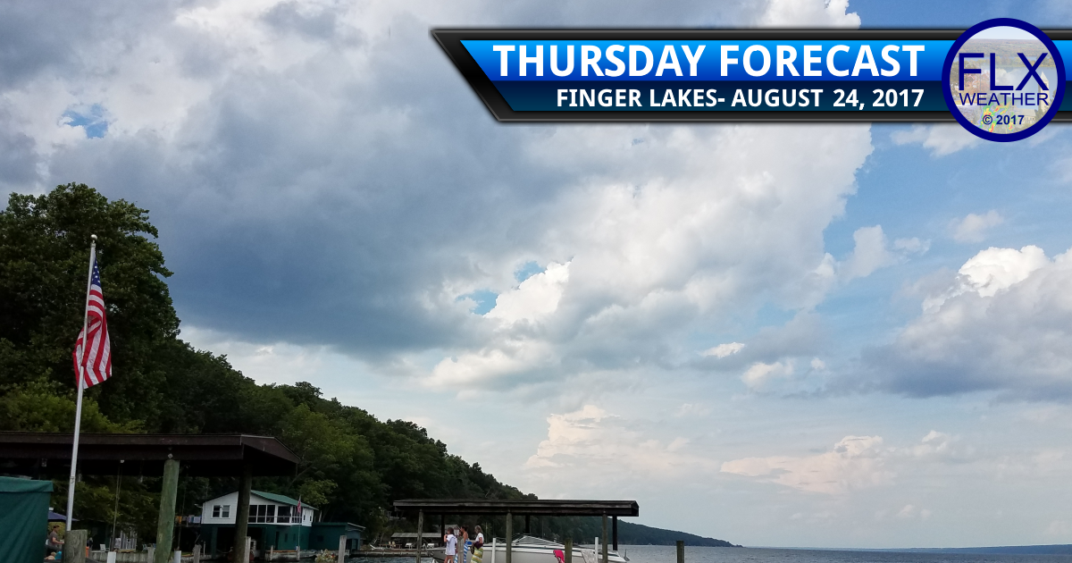A shower Thursday, then some great weather for the Finger Lakes