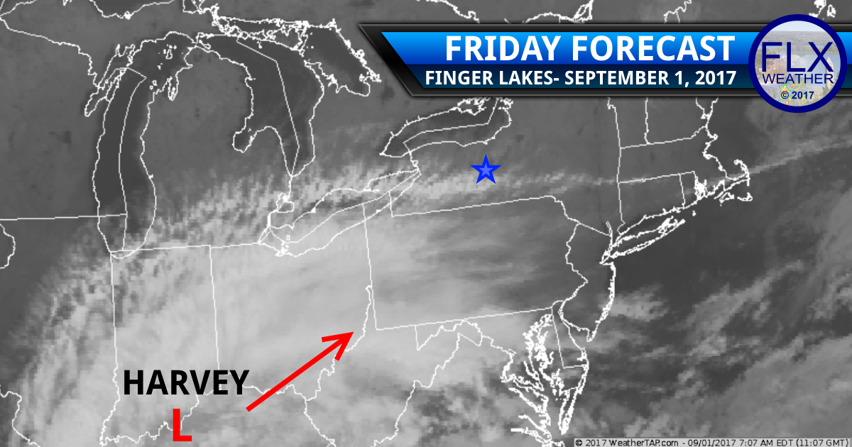 finger lakes weather forecast Harvey satellite rain