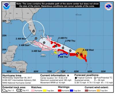 hurricane irma advisory 29a forecast track