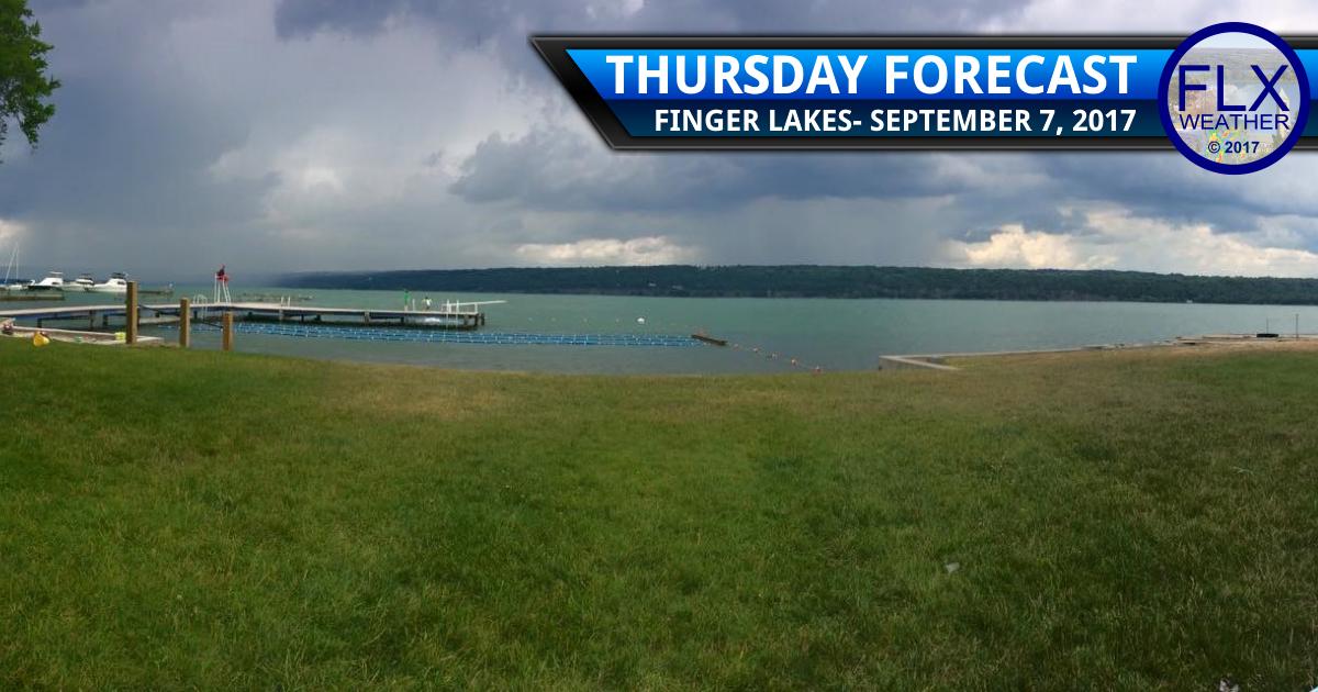 finger lakes weather forecast rain showers