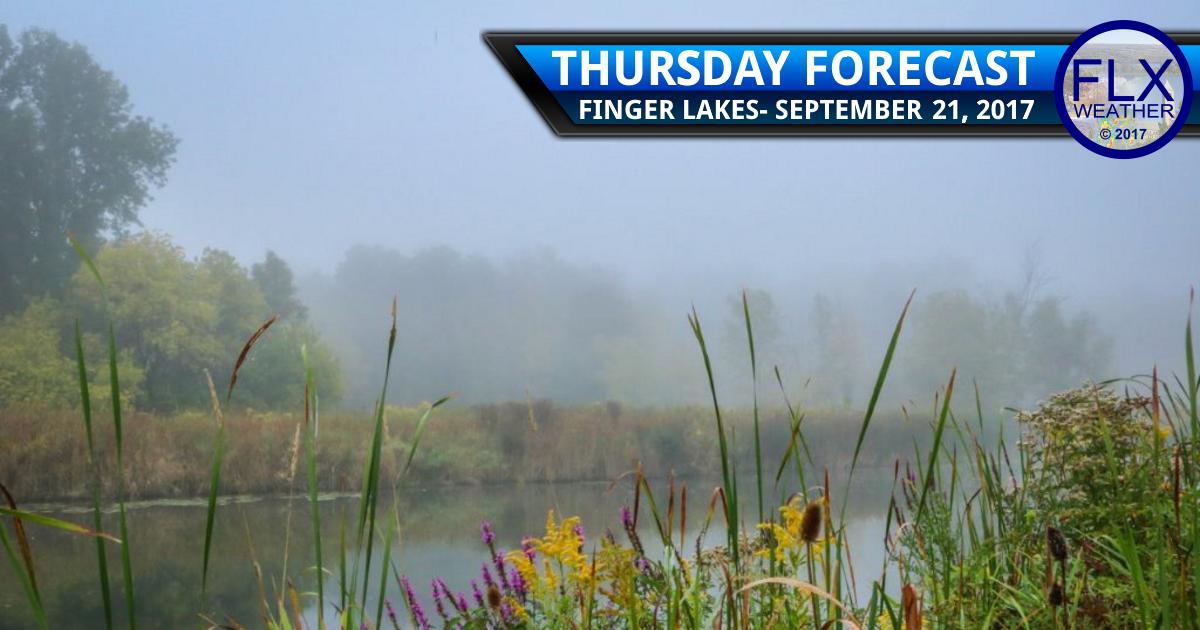 finger lakes weather forecast sunny dry warm morning fog