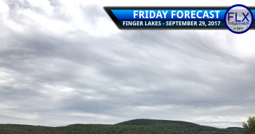 Rain showers move into the Finger Lakes Friday into early Saturday