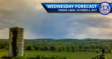Showers increase late Wednesday across the Finger Lakes