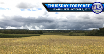 Clouds break Thursday in the Finger Lakes, but some showers return Friday