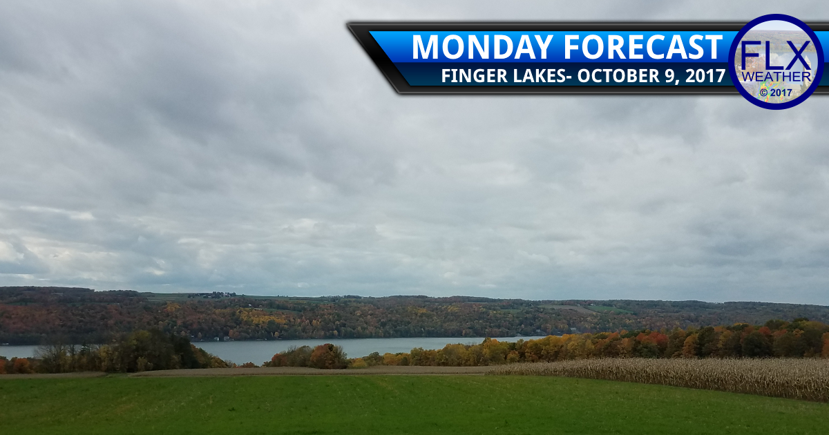 Rain from Nate moves through the Finger Lakes