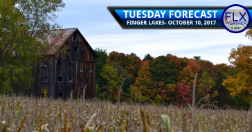 Some sun returns to the Finger Lakes Tuesday