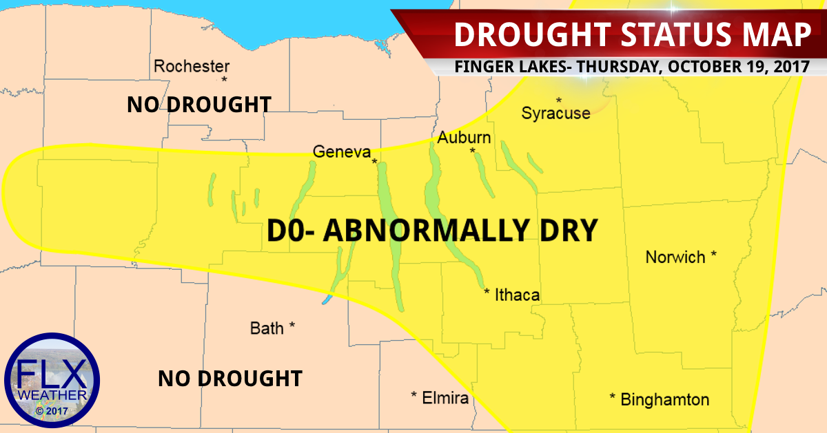 Abnormally dry drought status persists for the Finger Lakes