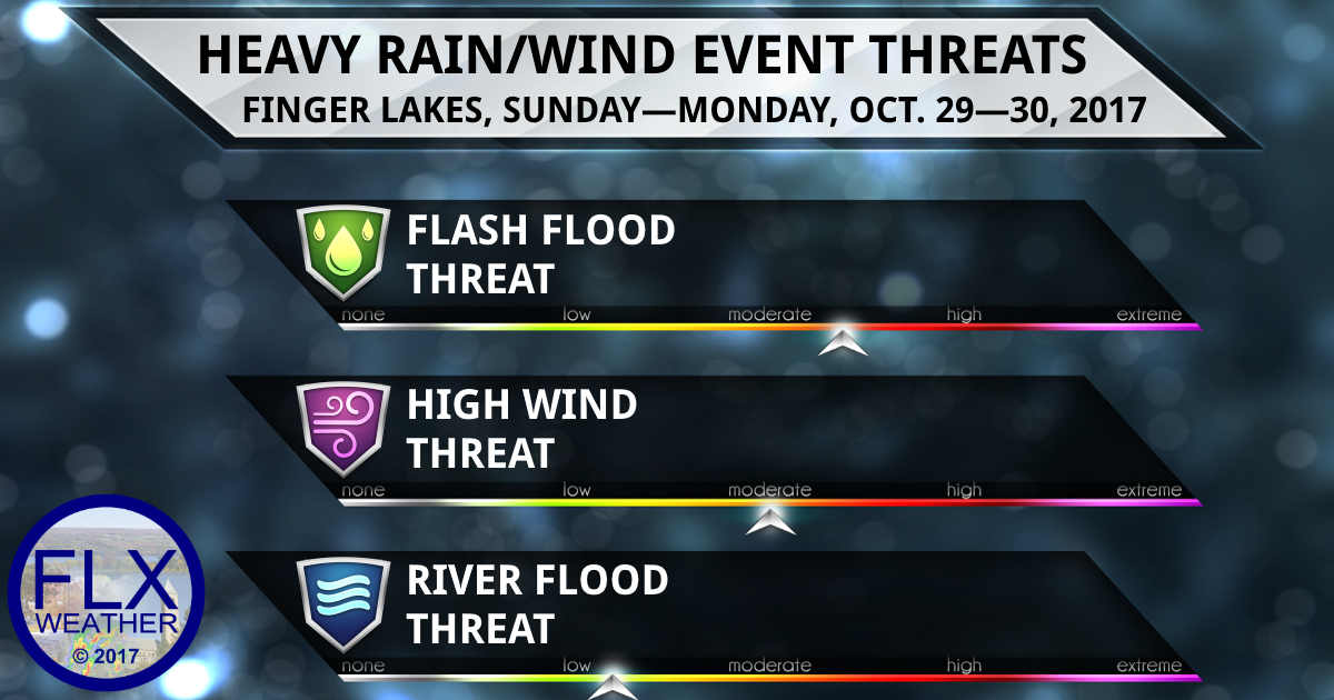 Excessive rain threatens the Finger Lakes with flash flooding Sunday