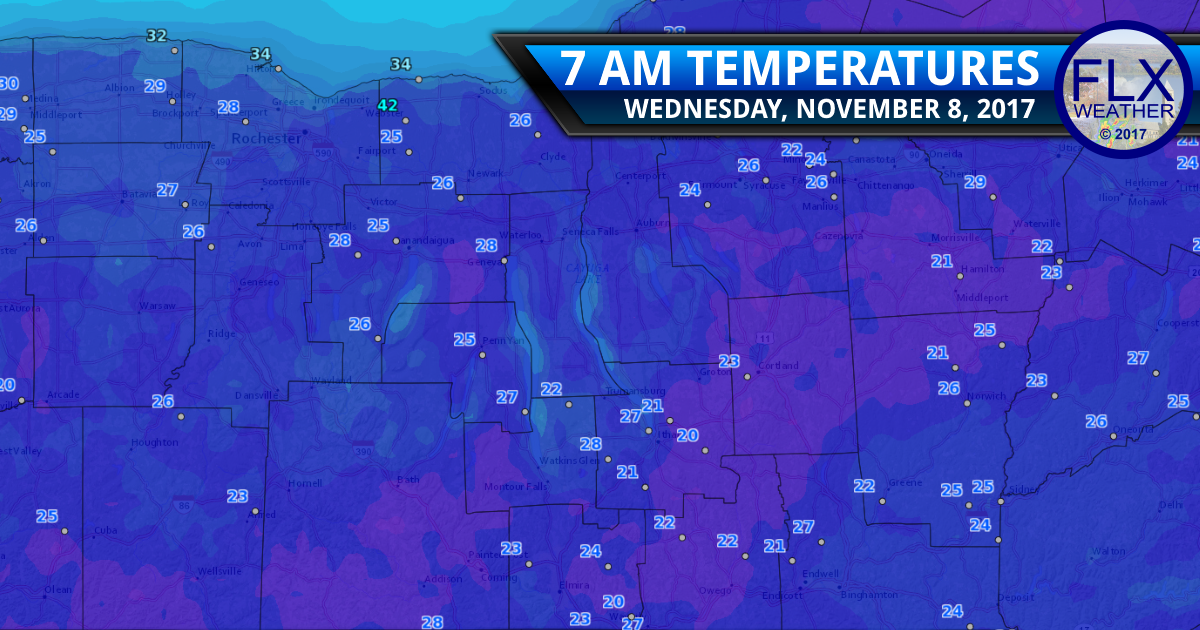 Sunshine warms cold morning temperatures Wednesday