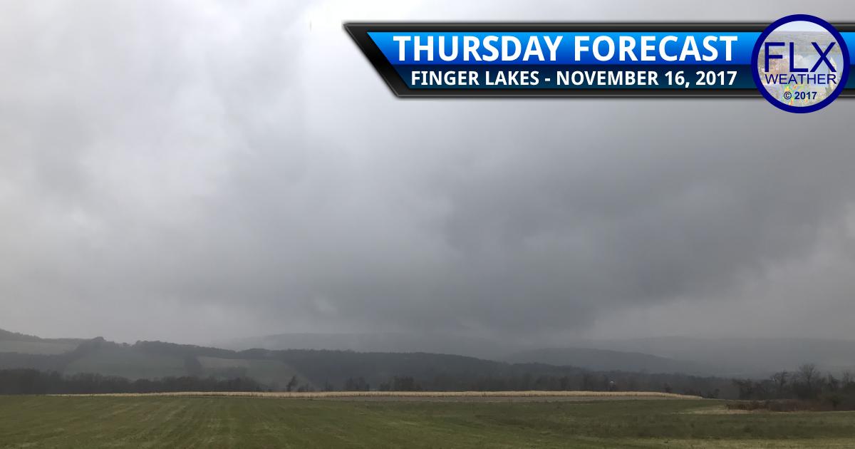 Rain to snow late Thursday across the Finger Lakes