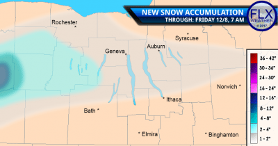 finger lakes snow accumulation map thursday december 7 2017