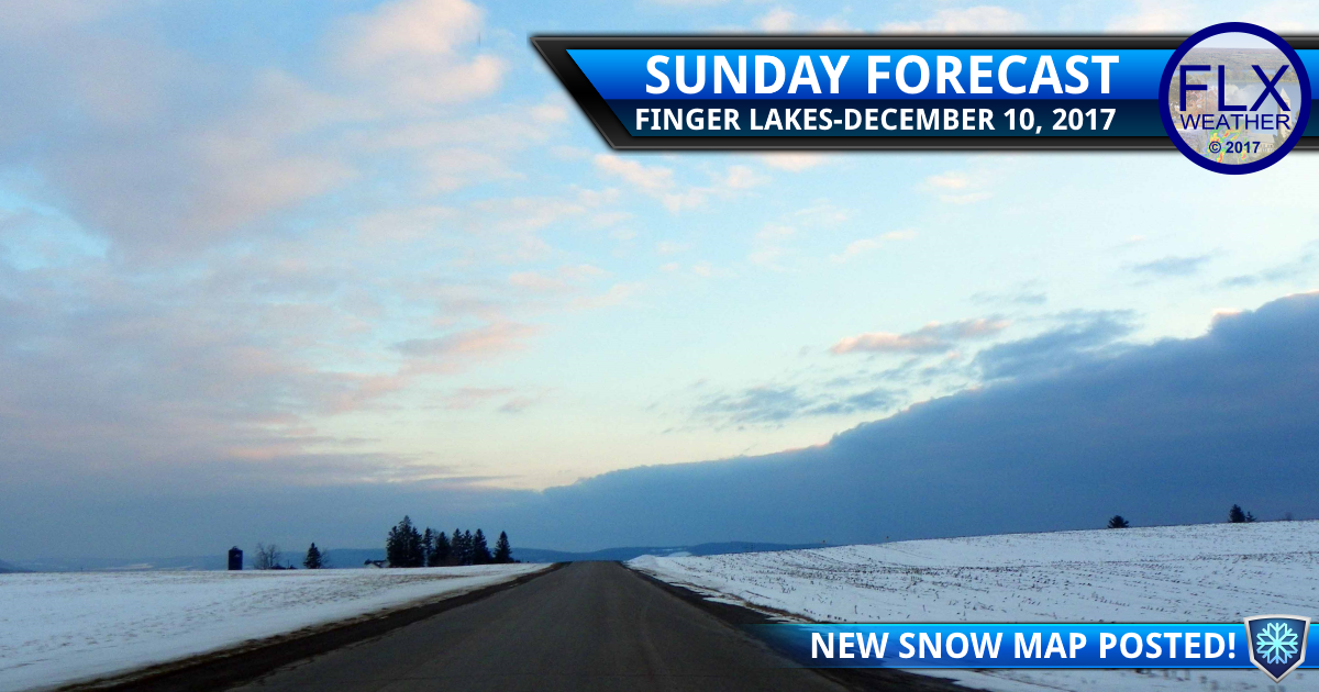 Lake effect snow update- Sunday morning